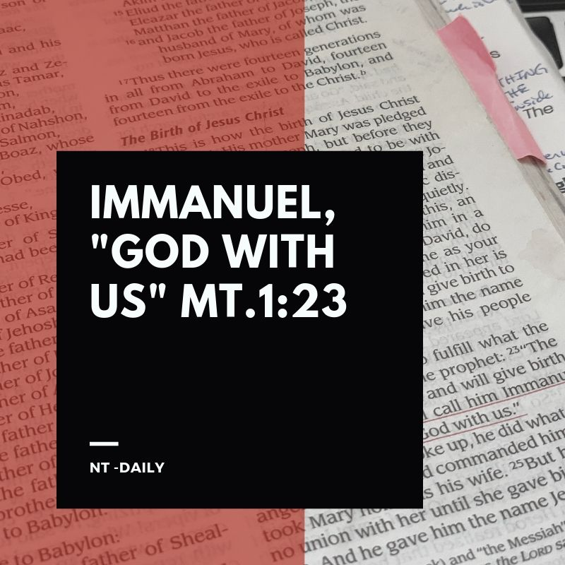 Matthew 1:23 Immanuel, God with Us